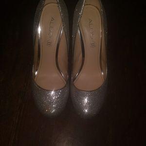 Aldo Platform Glitter 7 inch Heels